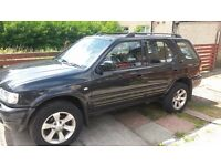 vauxhall fronterra metallic black, good condition with tow bar and roof rails.