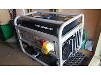 Petrol Generator. 2.5kw. Single phase. 110v and 240v.