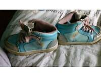 Variety of children's shoes