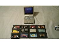 nintendo gameboy with 13 games