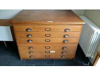 Vintage draughtsman's/architect chest
