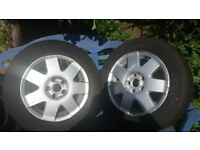 Vw polo alloys x2 with tyres 185/60r14 michelin cross climate.