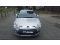 Citroen C4 Executive 2009. SAT NAV. 1.6 Diesel HDI 107. 1 Former keeper. MOT May 2017.