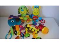 Set of lamaze baby sensory toys