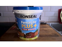 Ronseal Fence Life Plus Shed & Fence Treatment Red Cedar 9Ltr, brand new