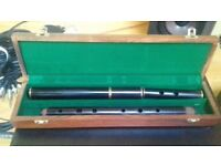 Traditional Irish Flute African Blackwood made by Arie De Keyser (4 Piece)