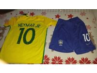 Brazil football top and shorts