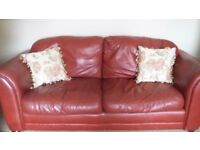 Leather three seater plus two seater.