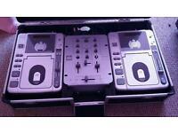 Ministry of sound dj cd decks, mixer and flight case
