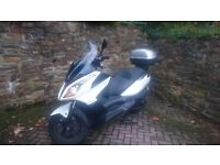 Bike Kymco Downtown 300cc White MOT passed good conditions