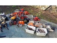 Job lot of chainsaws and garden equipment spares or repairs