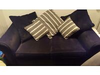 2 seater black sofa in hillend. Great condition.