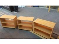 Oak wood 2 tier tv units