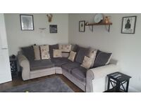 Stunning three piece corner sofa