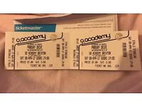 2x Parkway Drive tickets for O2 Academy Brixton