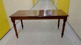 Vintage style craft leg brown coffee table