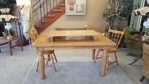 Beautiful wooden table with 2 chairs