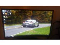 Asus G11CD Core i5-7400 8GB 1TB Gaming Deskto + Samsung C27F390 27 LED Curved Monitor