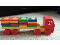 Wooden Shape Sorter Train