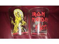 Iron maiden killers shot glasses