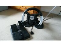 4gamers Playstation2 Steering Wheel and Pedals