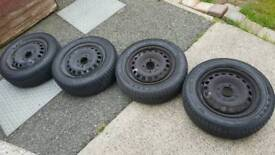 175/65/r14 tyres and set of 14 inch wheels