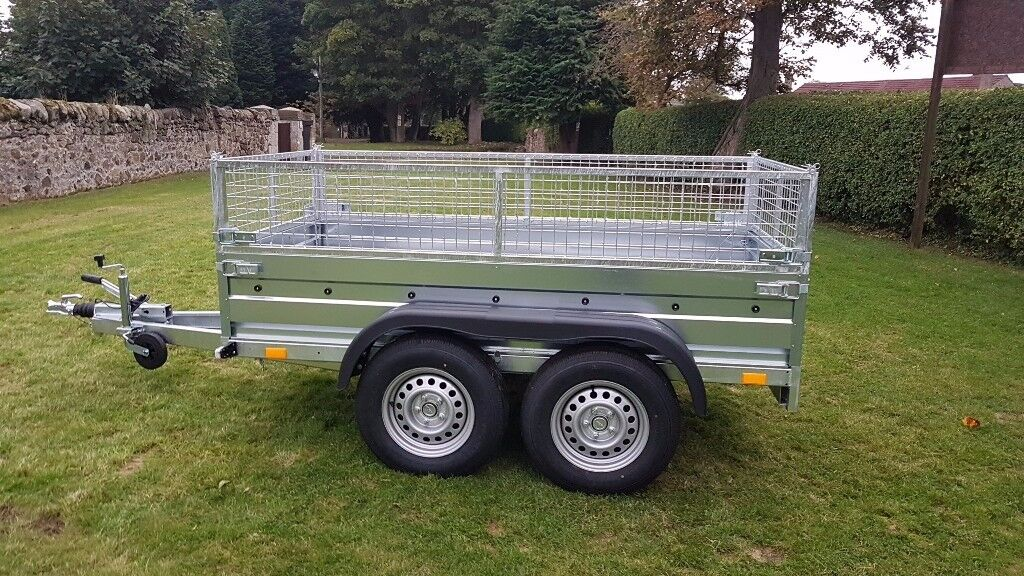 New trailer 8.7 x 4.2 twin axle-build with mesh and braked 2700kg £ 1900 inc vat