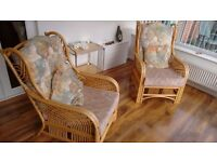 Two Conservatory Chairs with Cushions