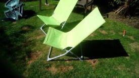 2folding garden chairs