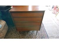 Retro teak and rosewood 1960's/ 70's 'austinsuite' chest of four drawers