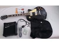 Rockburn LP2 Style Guitar Package black, urgent, cheap