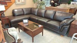 Leather Lazyboy Sectional