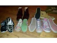 Large bundle of girls shoes size 13