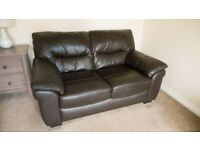 2 and 3 seater leather sofas (Harveys, price for both)
