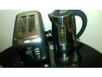 Breville Stainless steel/black matching kettle and toaster