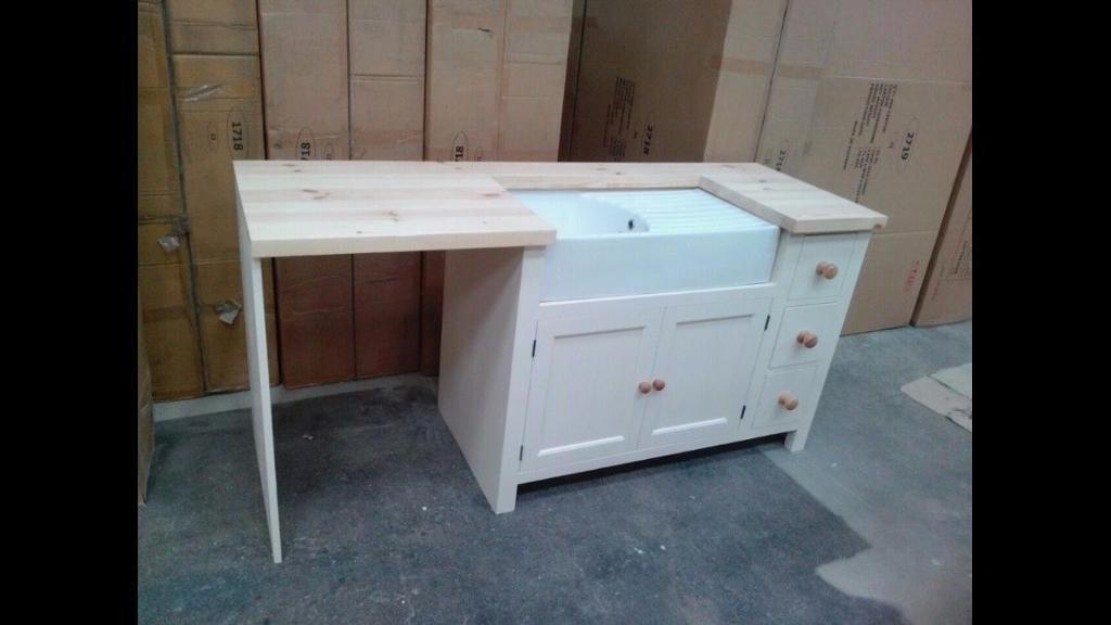 Belfast sink + Worktop + side panel