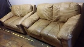 Real leather suite (2+2) - Delivery available
