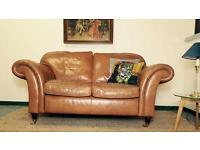 Laura Ashley Mortimer Tan Leather Sofa RRP £1800
