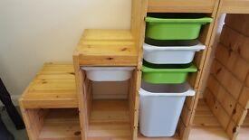 Pine toy storage units from IKEA x2