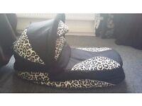 Leopard print baby merc travel system