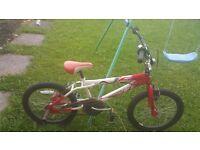 BMX boys bike in red