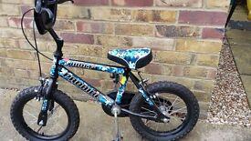 "Child's bike, 14"" wheels, 9"" frame"