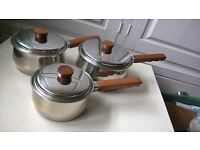 FULL SET COPPER BOTTOM PRESTIGE SAUCEPANS