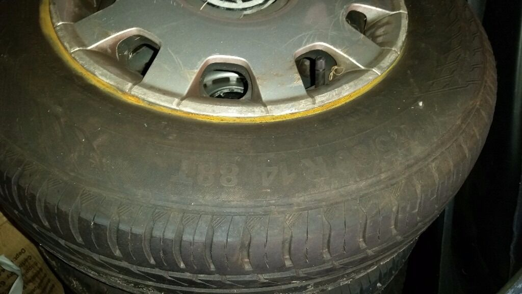 174/80/14 TYRES BRAND NEW WHEEL TRIMS
