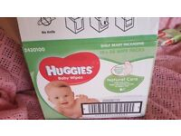 huggies baby wipes natural care with aloe vera 7 packs