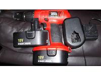 BLACK & DECKER 18 V cordless drill
