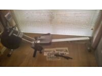 Bodymax R70i Infiniti rowing machine + heart rate chest belt (all nearly new)