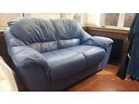 Double seater couch sofa blue