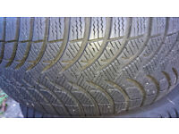 3 x Michelin Winter Tyres USED ONCE, M + S 205/55 R16 4MM