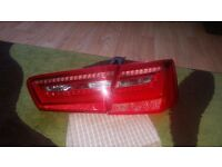 Audi A6 C7 11-14 LED Red Rear Lights Lamps Pair Set Left Right Saloon